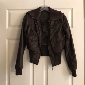 J2 Chocolate Brown Faux Leather Jacket
